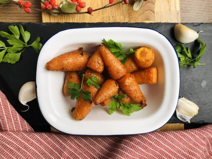 Savoury Garlic Air Fryer Baby Carrots