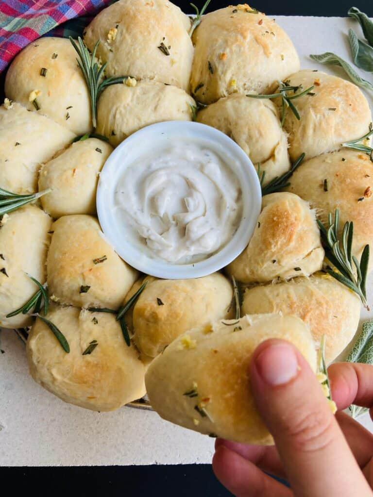 fluffy vegan rolls