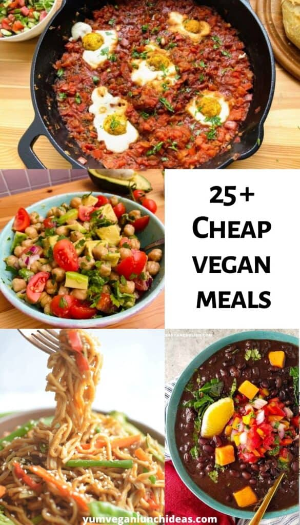 cheap vegan recipes pin