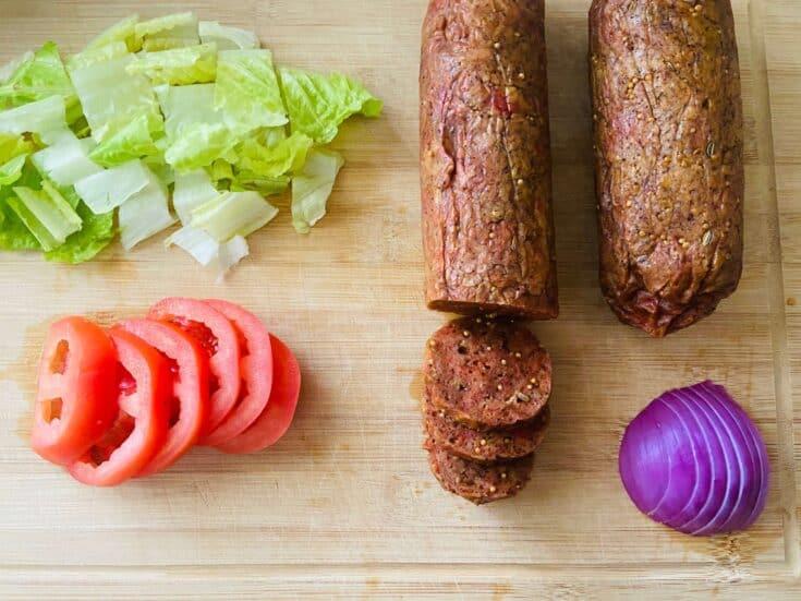 vegan salami