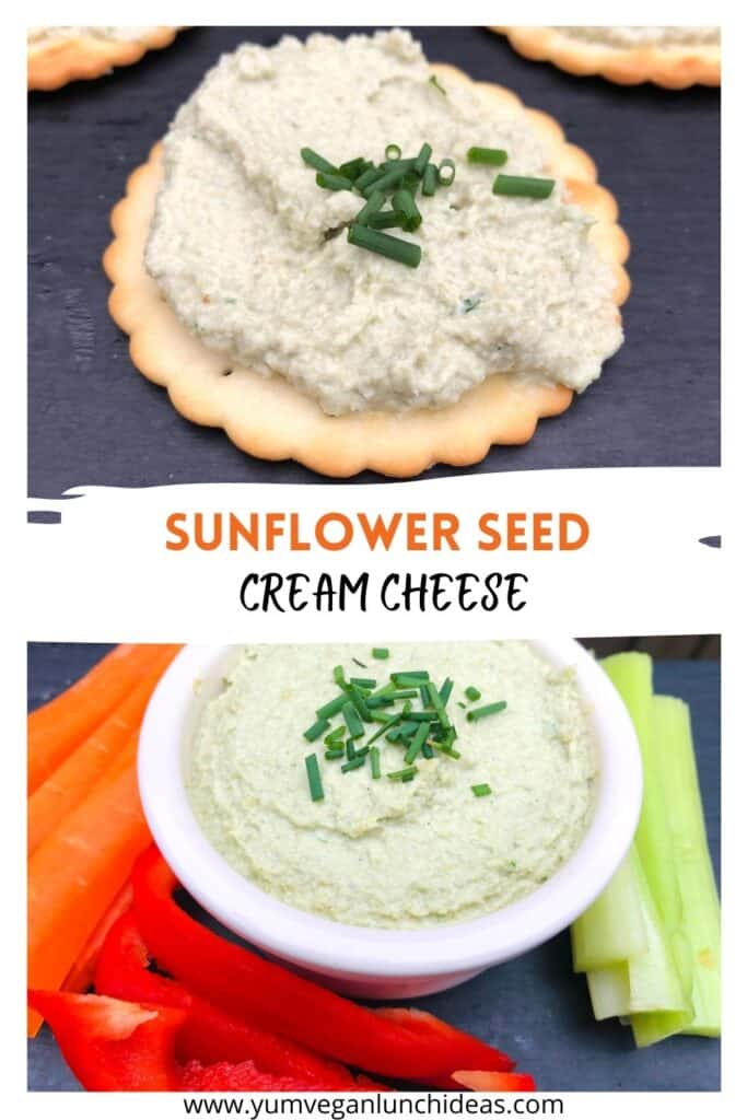 raw unsprouted sunflower seed cream cheese