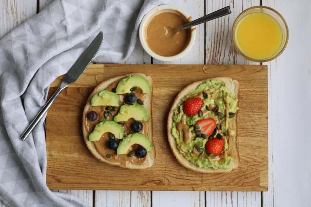 avocado toast peanut butter
