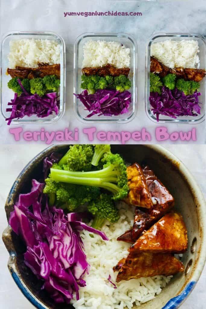 teriyaki tempeh bowl pin
